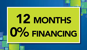12 month 0% interest financing available at Floors To Go in Anniston!