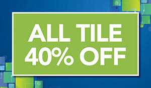 40% off all tile this month only at Floors To Go in Anniston!