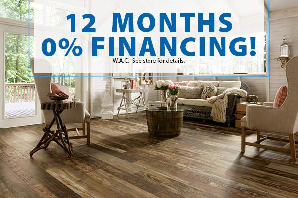 12 months 0% financing at Floors To Go