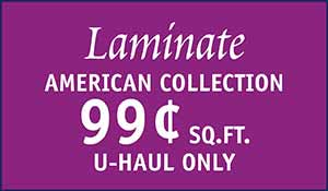 Laminate American Collection flooring 99 cents sq.ft. at Floors to Go in Anniston