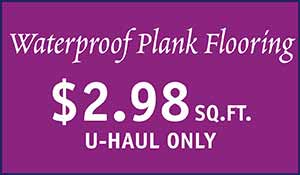 Waterproof Plank Flooring $2.98 sq.ft. at Floors to Go in Anniston