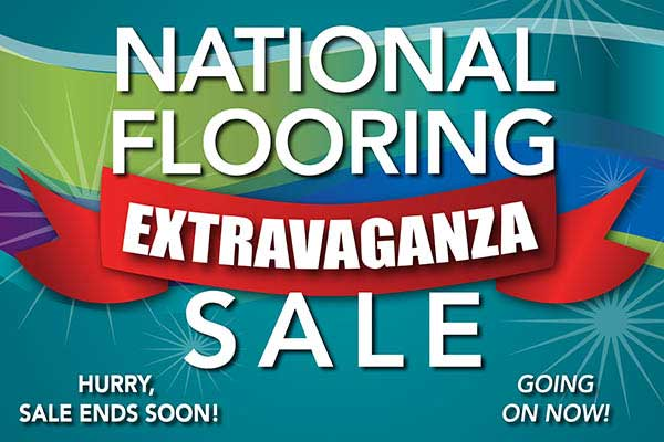 Get huge savings during our National Flooring Extravaganza Sale at Floors to Go in Anniston