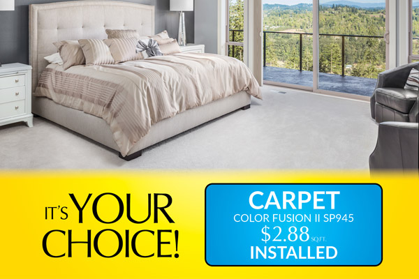 Carpet on sale now! Color Fusion 2 SP945 installed for only $2.88 sq.ft. – Floors To Go in Anniston, Alabama